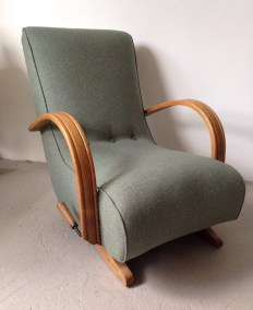Utility bentwood arm rocking chair