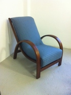 Utility Suparest bentwood arm chair in Bute 'Ramshead'