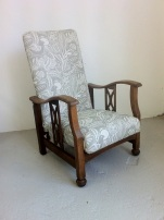 1930' reclining chair in Woven Oak fabric