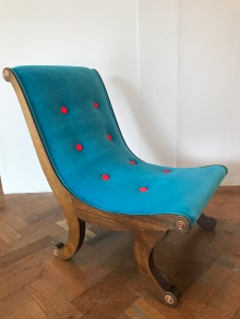 vintage curved nursing chair