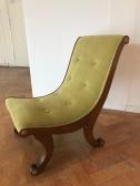 vintage curved nursing chair