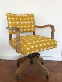 Vintage desk chair in Skinny Laminx Pebble 'Pollen'