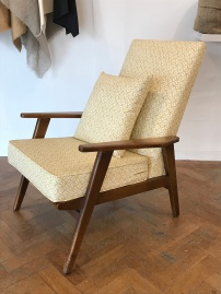Vintage armchair in Linwood fabric