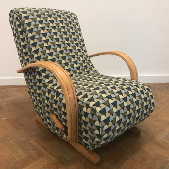 1940's Utility bentwood arm rocking chair