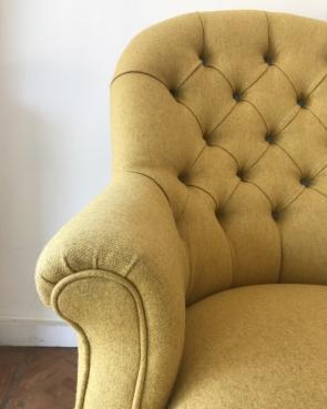 Deep buttoned Victorian chair
